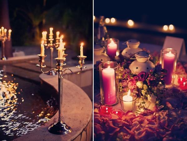 свечи в оформлении свадьбы  #wedding
