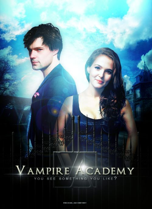 Vampire Academy: Blood Sisters fan art featuring Danila Kozlovsky and Dimitri Belikov and Zoey Deutch as Rose Hathaway