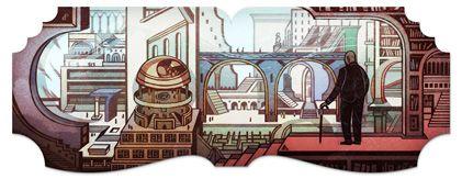 Jorge Luis Borges doodle on Google!!!!