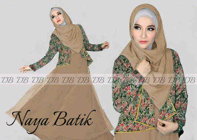 Baju Maxi Naya Batik Mocca R864, Ready Stok, Untuk pemesanan dan informasi silahkan hubungi admin di SMS/Whatsapp : 08525980804