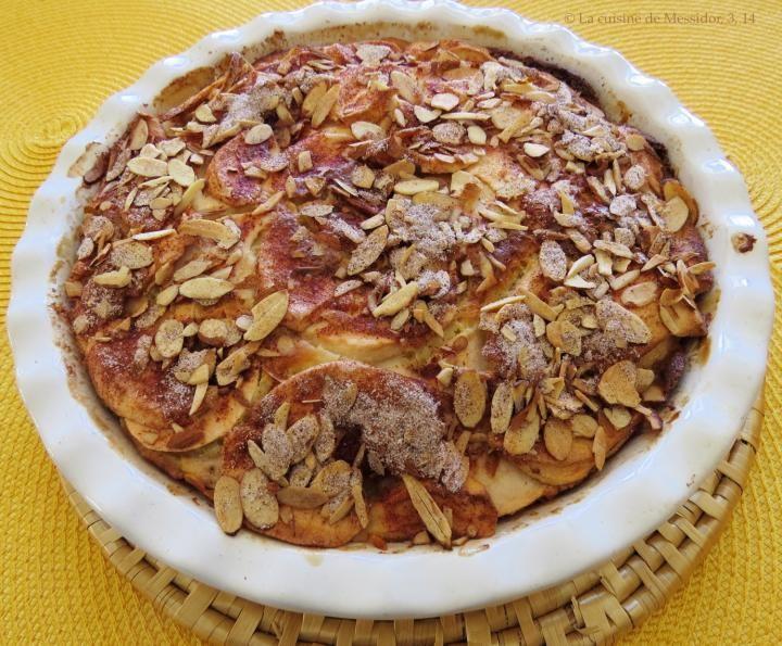 Recette de Gâteau aux pommes et aux amandes