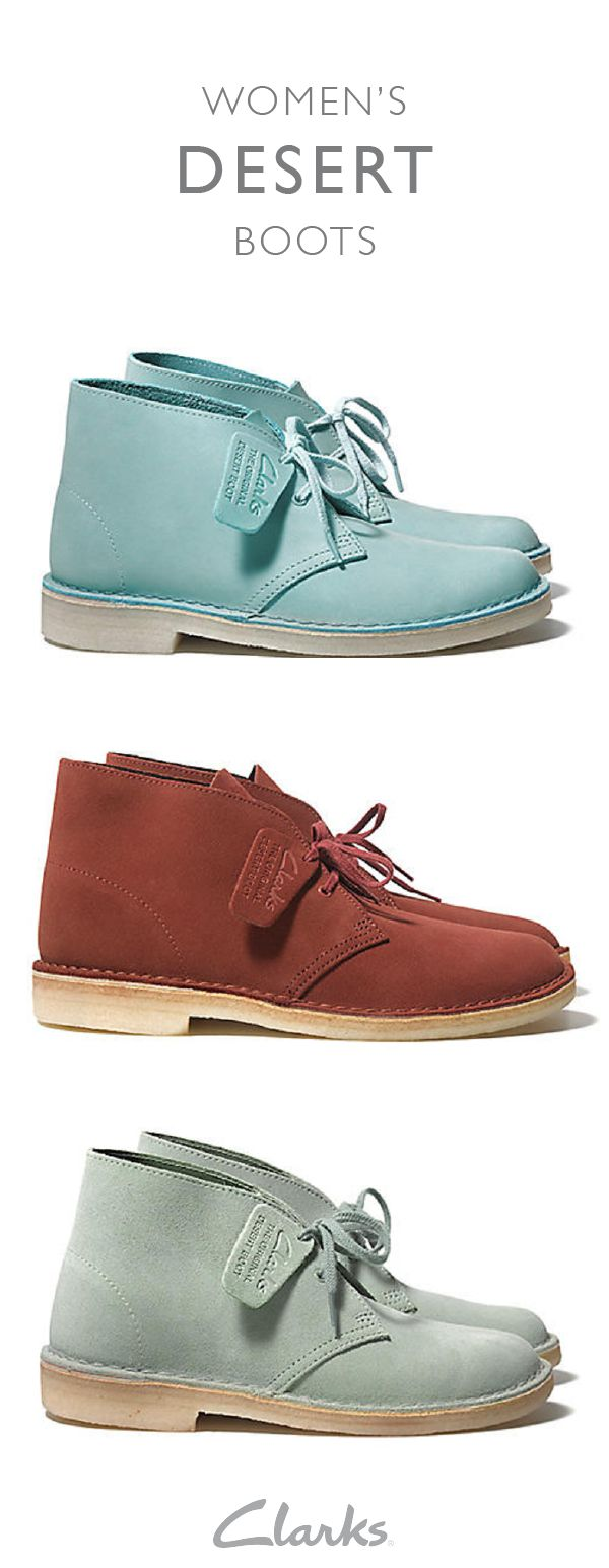 Since arriving in 1949, the iconic Desert Boot has brought comfort and style to people around the world. With it's clean and elegant design, it's a versatile shoe that can go with just about anything in your closet. Click on the link to view this women's staple piece.
