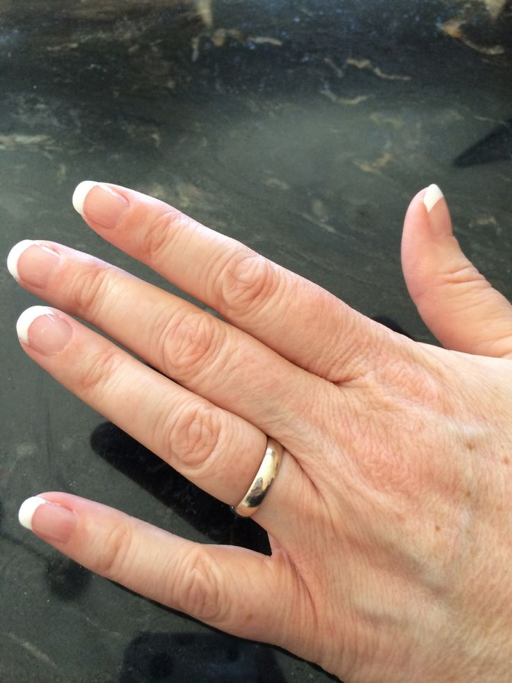 Basic french manicure by S.Doherty