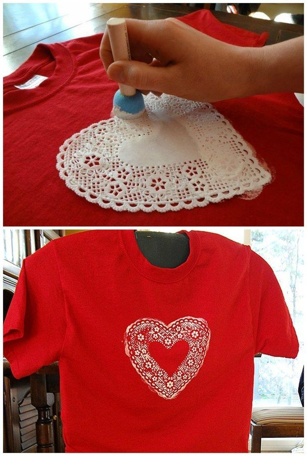 Help your kid make their own Valentine's Day shirt.