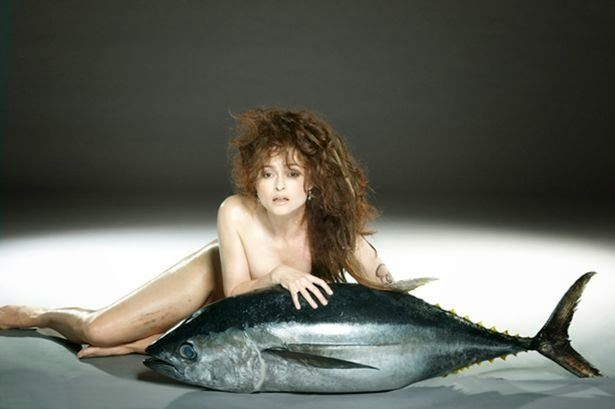 Omg The Real things: CELEBRITY: Helena Bonham Carter gets naked and wra...