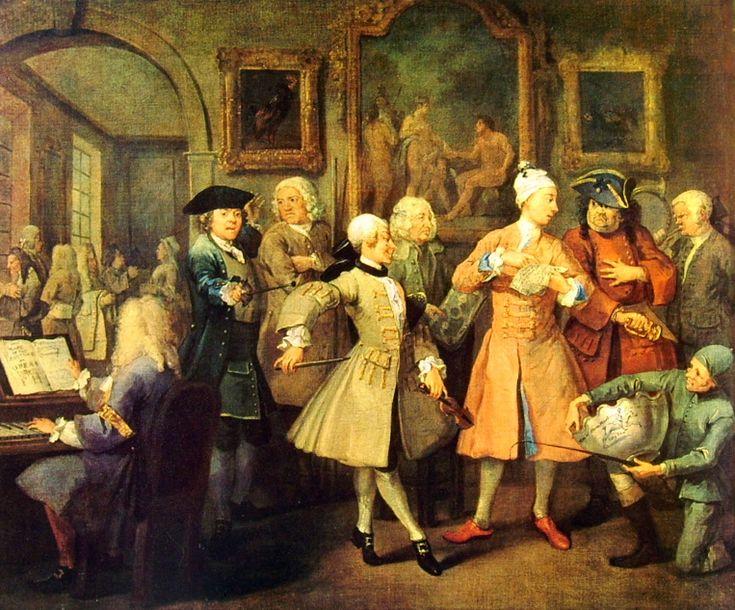 La carriera di un libertino-1733-William Hogarth- olio su tela-National Gallery-Londra