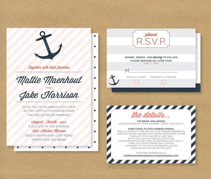 Nautical RSVP InvitationsCheap Wedding