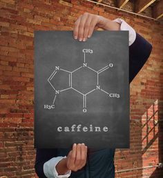 Science Art Caffeine Molecule Poster Wall Decor Quote Print Home Art by BareWallsSuck on Etsy https://www.etsy.com/listing/205966654/science-art-caffeine-molecule-poster