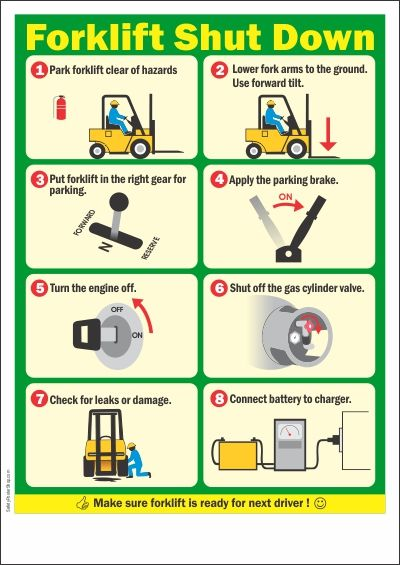 87 best forklift training images on pinterest info graphics how to shut down forklift properly and making sure the forklift is ready for next driver publicscrutiny Image collections