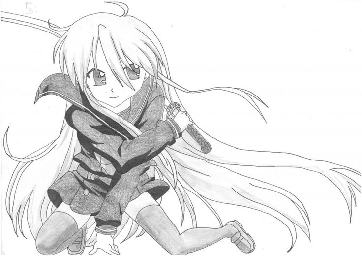 Female warrior - Manga / Anime Tutorial #manga #anime #tutorials
