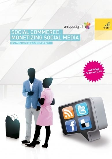 """Social Commerce: Monetizing Social Media"" by Dr. Paul Marsden, $13.06"
