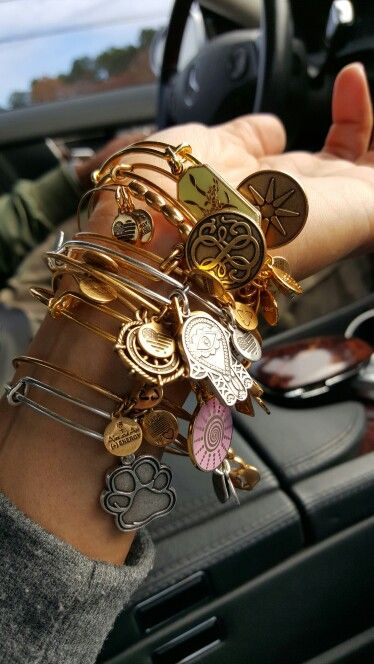 Alex and Ani Bangles #charmedarms