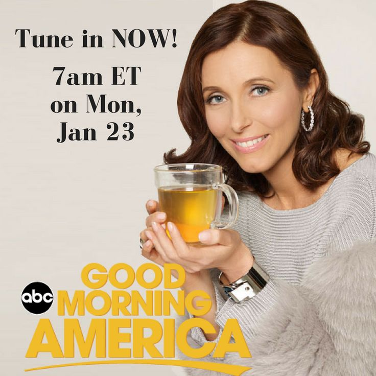 Good morning! Tune in NOW to see my segment on @goodmorningamerica... I'll be talking with @robinrobertsgma about the #BoneBroth Revolution. The show starts at 7am ET. Check your local listings, or watch online, and THANK YOU for all your amazing support! #BoneBrothRevolution #SpreadtheWord  #HealthyChoices #JustSipIt