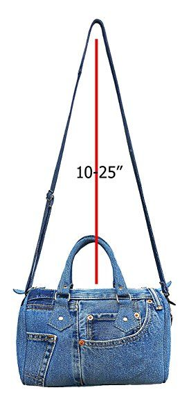 747836ba9b BDJ Classic Blue Denim Jean Doctor Style Women Handbag (LL-04)  Handbags   Amazon.com