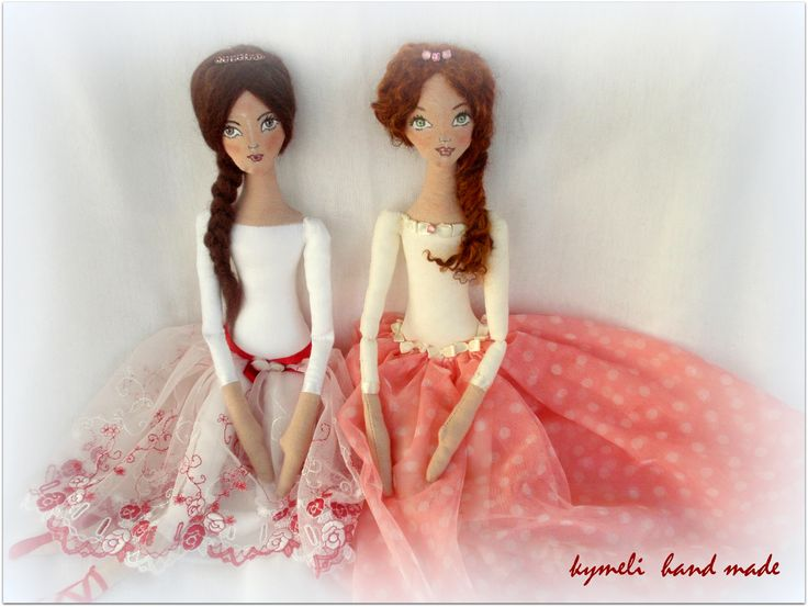 'Sofi' and 'Elena'  OOAK Art Dolls by kymeli