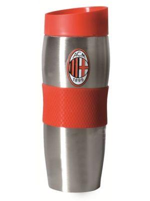 Rossoneri mogą Ci teraz towarzyszyć także w pracy! Kubek termiczny dla zagorzałych fanów legendarnego Milanu został opatrzony logo klubu. Kubek utrzymuje zarówno niską jak i wysoką temperaturę aż do 6 godzin. Kubek termiczny firmy Dajar to świetne rozwiązanie dla ludzi którzy stawiają na wygodę oraz indywidualny wygląd produktu. Kubek z silikonową opaską, wykonany jest ze stali nierdzewnej oraz tworzywa sztucznego.