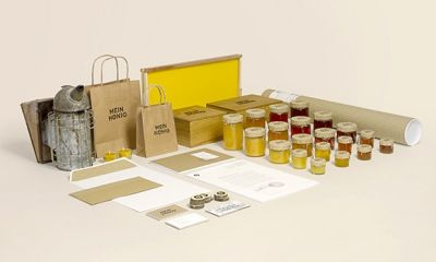 自然田園風花蜜品牌包裝設計 Mein Honig