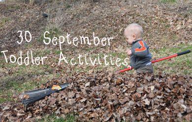 30 September Toddler Activities