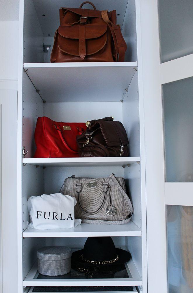 Ikea Schrank Für Kühlschrank ~   Kleiderschrank Handtaschen Furla Michael Kors Einrichtung Ikea Pax