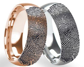 About Fingerprint Ring Engraving - LarsonJewelers.com