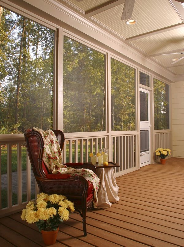 37 best mobile home covered deck images on pinterest for Side porch house plans