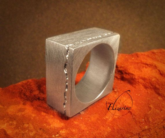 Square ring  Imprint pattern Number One  by CreationsElizarine, €80.00