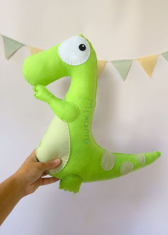 Dinosaur stuffed animal, Felt Toy, Baby, nursery room, nursery room decor, stuffed toy by LaPetiteMelina