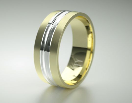Broad and Masculine is he. Love this white and yellow gold @infinityrings Mens Ring. Absolutely gorgeous. He will look superbly stylish in this!