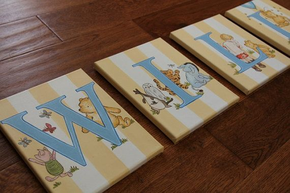 8 x 10 Winnie the Pooh Animal Personalized Name Wall by slharnisch, $27.00