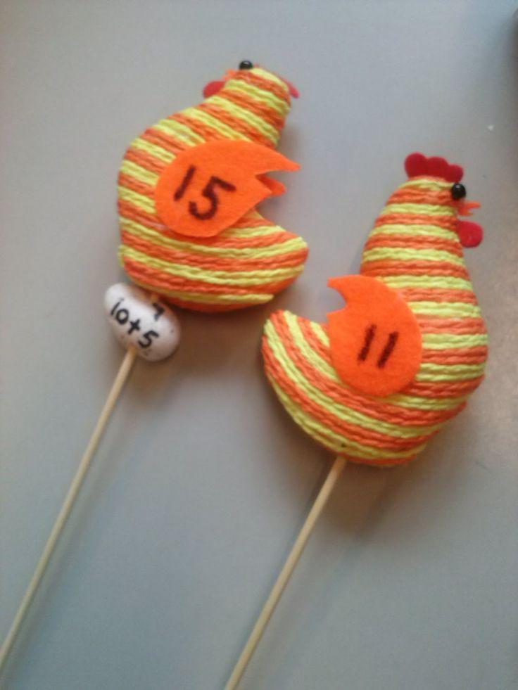Rekenspellen: Sommenmaken met kippen en eieren