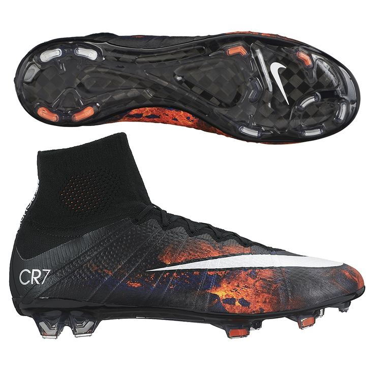 Nike Mercurial SuperFly IV CR7 FG Soccer Cleats (Black/Total Crimson/Vivid  Purple/White)
