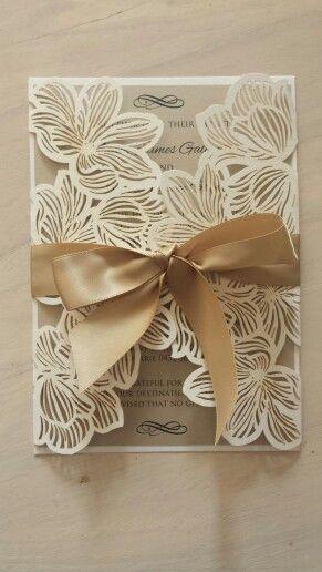 Beautiful laser cut invite
