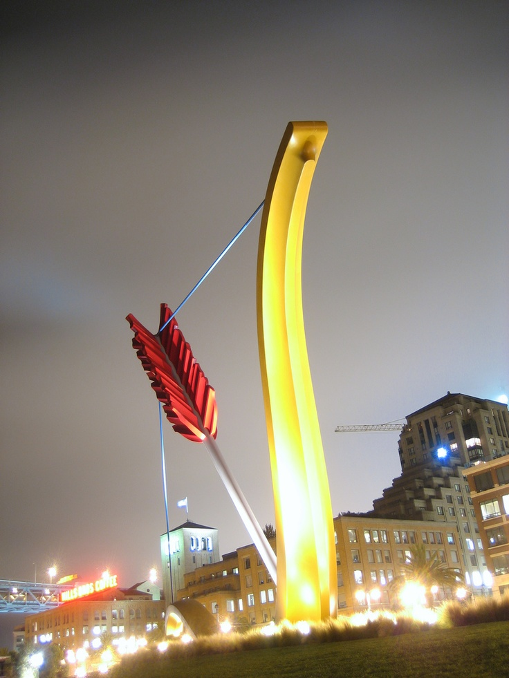 """""""Cupid's Span""""  Embarcadero in San Francisco. Resembling Cupid's bow & symbolizes the place where Tony Bennett """"left his heart""""."""
