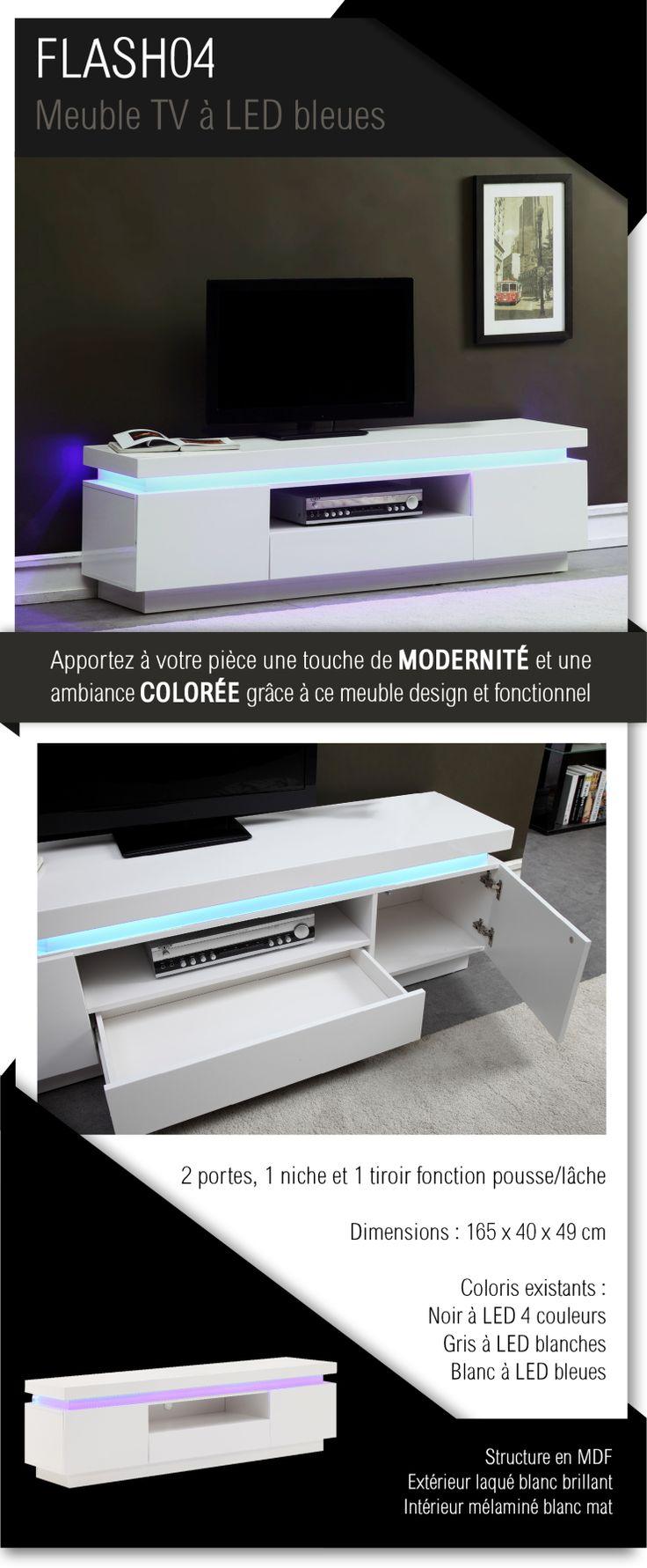 1000 id es propos de meuble tv blanc sur pinterest. Black Bedroom Furniture Sets. Home Design Ideas