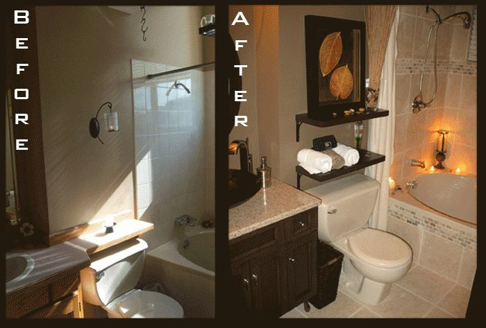 Small home remodel before and after before and after for Find bathroom contractor
