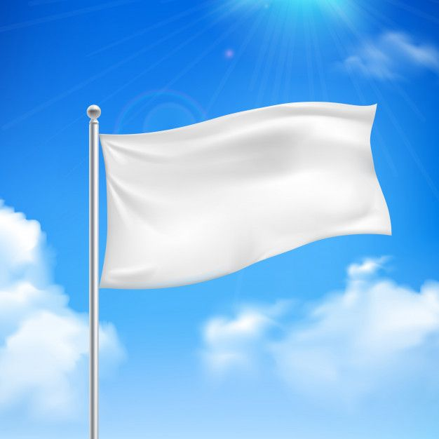 Download White Flag In The Wind Against The Blue Sky With White Clouds Background Banner Abstract For Free In 2020 White Flag Blue Sky Background Blue Sky
