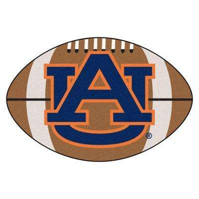 NCAA Auburn University AU Logo Brown 1 ft. 10 in. x 2 ft. 11 in. Specialty Accent Rug