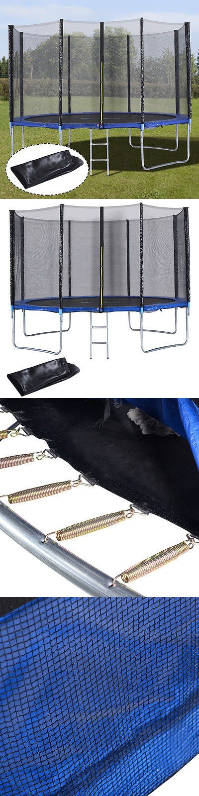 Trampolines 57275: New 12Ft Trampoline Combo Bounce Jump Safety Enclosure Net W/Spring Pad Ladder BUY IT NOW ONLY: $209.99