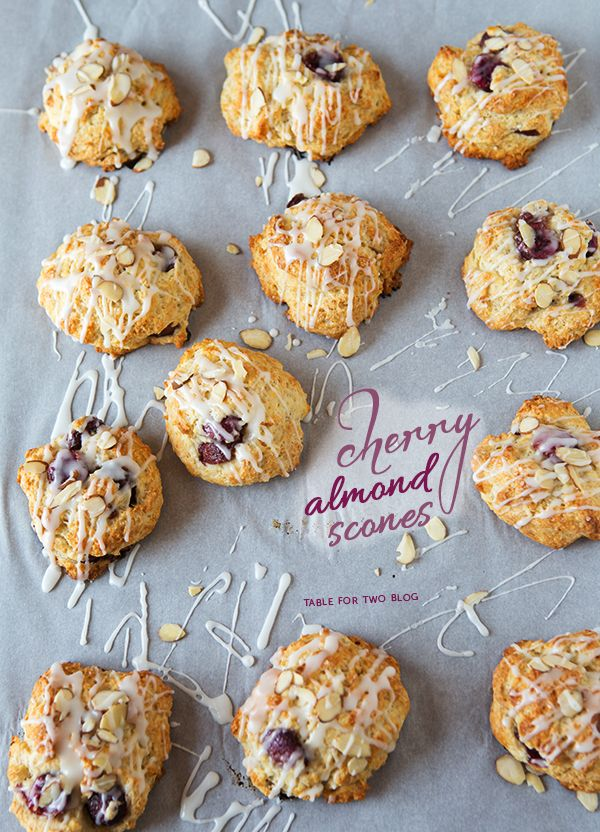 Cherry Almond Scones | tablefortwoblog.com