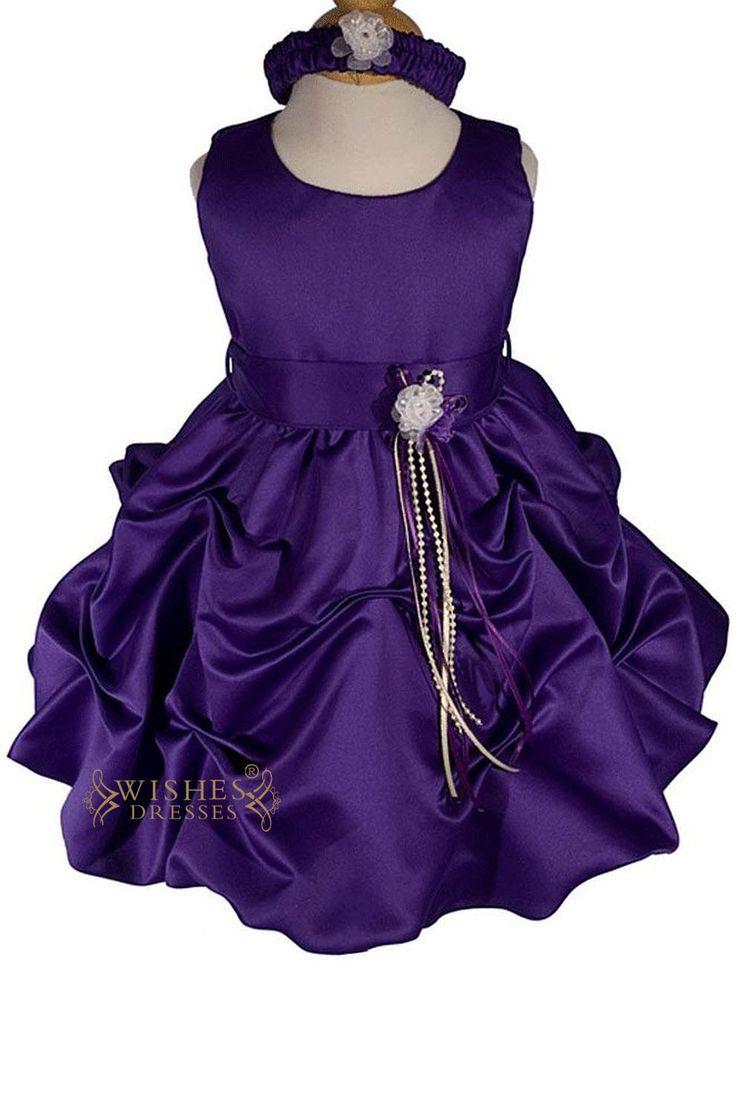 Baby Skirt / A-line Purple Flower Girl Dress Am228