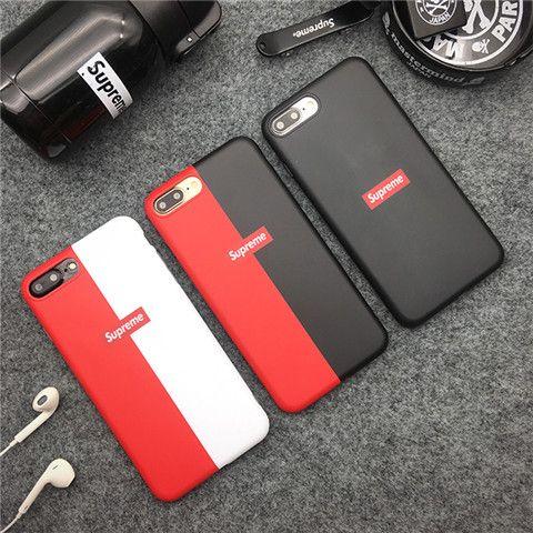 e4840b9497 Supreme iPhone X ケース ブランド シュプリーム シリコン製 iPhone8 ソフトカバー 欧米スタイル 薄型 赤白