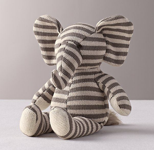 luxe knit stuffed toy