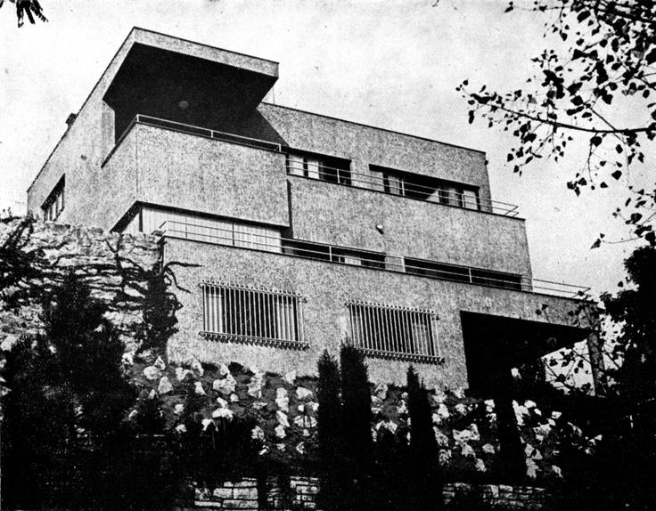 Villa, Jaroslav Fragner, Prague - Barrandov, Czechoslovakia 1937