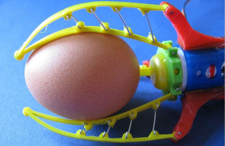 Compliant Robot Gripper Won't Scramble Your Eggs | Hackaday