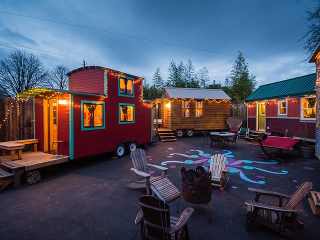 Peek Inside America's First Tiny House Hotel #tinyhouse #movement