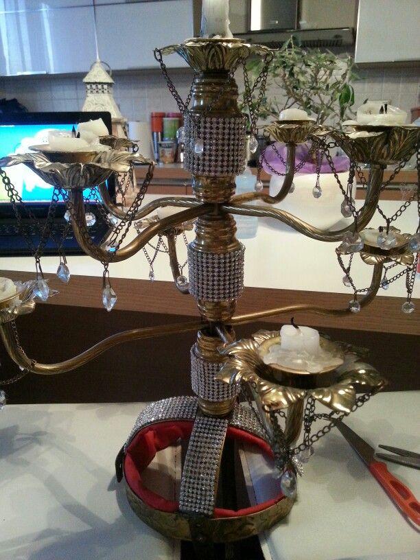 Handmade candelabra