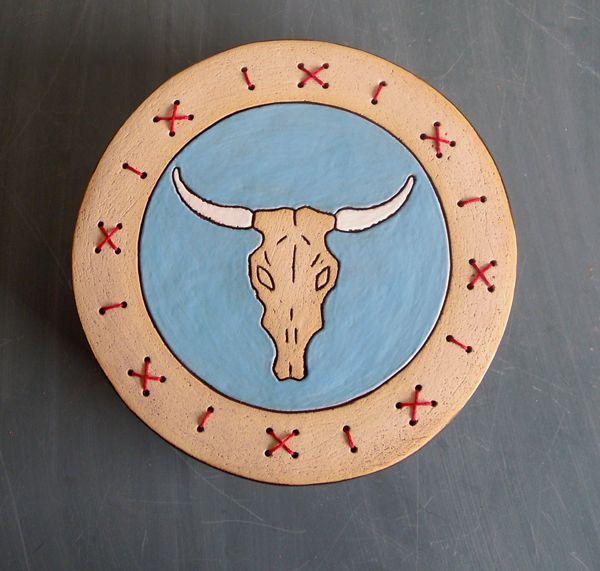Cow skull box