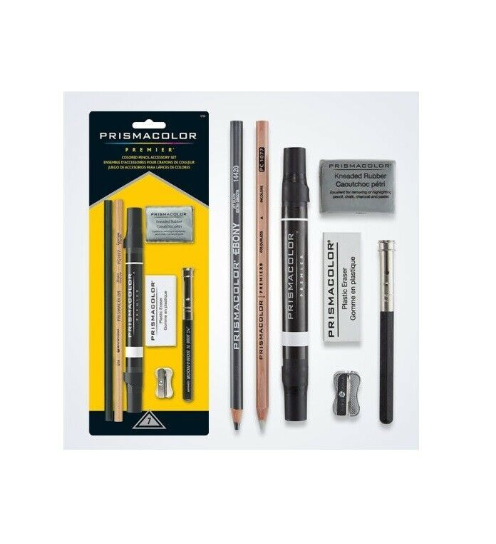 WOWOSS 17 Pieces Blending Stumps and Tortillions Set with 2 Pieces Sandpaper Pencil Sharpener 1 Pencil Extension Tool and a Felt Bag for Sketch Drawing
