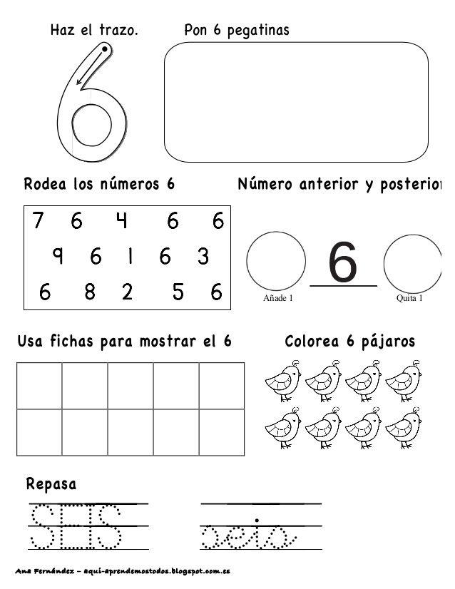 Ana Fernández – aqui-aprendemostodos.blogspot.com.es SEIS seis Añade 1 Quita 1