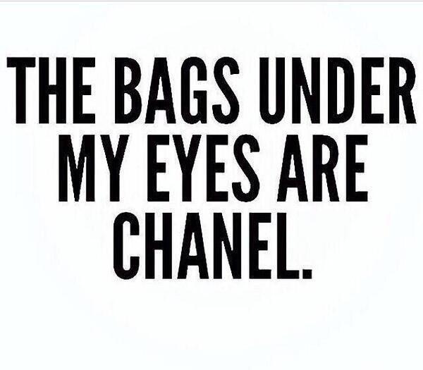 Under my eyes